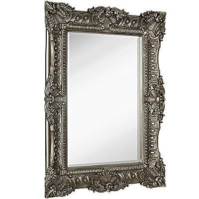 "Hamilton Hills Large Ornate Baroque Frame Mirror | Aged Luxury | Elegant Rectangle Wall Piece | Vanity, Bedroom, or Bathroom | Hangs Horizontal or Vertical | 100% (30"" x 40"")"