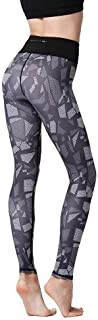 Generies Yoga Pants Ladies Sports High Waist Trousers Printed Quick Dry Stretch Tight Fitness Running Gym Sports Training ...