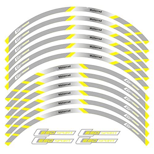 12 PCS Ajustar la Etiqueta de la Rueda de la Rueda de la Motocicleta Rango Reflectante para BMW C650 Sport (Color : 4)