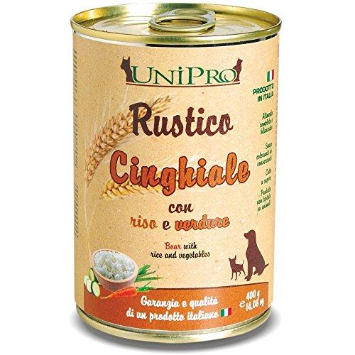 RUSTICO Cinghiale con riso e verdure umido cane gr. 400 - Mangimi umidi per cani