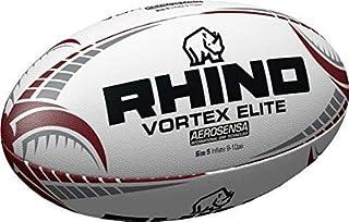 2f73339591050 Sports Rouage Rhino Vortex Elite Ballon de Rugby Blanc Taille 5