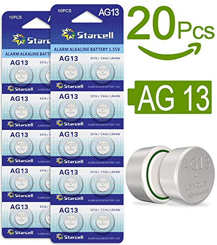 Act AG13 LR44 Button Cells Batteries A76 L1154 SR44 G13 357 1.5 V Pack of 20