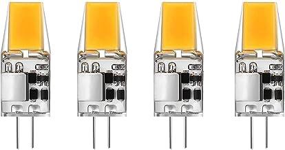 G4 LED Bulbs,5W 500LM Bi-Pin Base,12V AC/DC 360°Beam Angle,4-Pack,Cool White