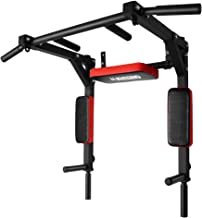 ONETWOFIT Multifunctional Wall Mounted Pull Up Bar/Chin Up bar,Dip Station for Indoor Home Gym Workout,Power Tower Set Tra...