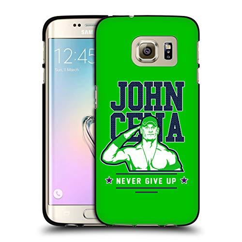 Head Case Designs Offizielle WWE John Cena Never Give Up 2 2018/19 Superstars 4 Schwarze Soft Gel Huelle kompatibel mit Samsung Galaxy S7 Edge