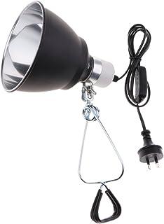 Baoblaze E27 Aquarium Ceramic Reptile Lamp Habitat Lighting Reflector Holder AU Plug