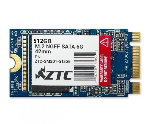 ZTC 512GB Armor 6G 42mm SSD Solid State Drive. Model ZTC-SM201-512G