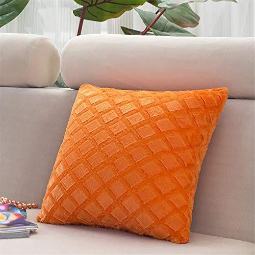 unknow Zoomne - Funda de almohada para coche, lavable, diseño de sofá, color naranja