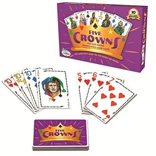 Fangteke Fünf Kronen Karten Five Crowns Kartenspiel Poker Rommé Kartenspiel Tragbare Familienfeier Brettspiele (Englische Version)