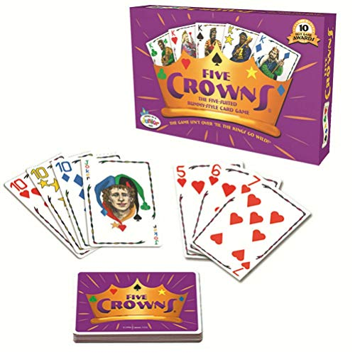 Hinder Five Crowns Card Game, English Version Five Crowns Card Game Poker Board Game Fun Friends Desktop Game Portable Family Party Board Game