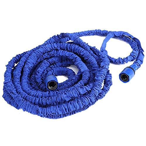 Tubo de jardín, fibra de poliéster de alta calidad y material plástico con manguera de riego antifugas de 7,5 m, para piscinas de jardín, talleres de riego de patio