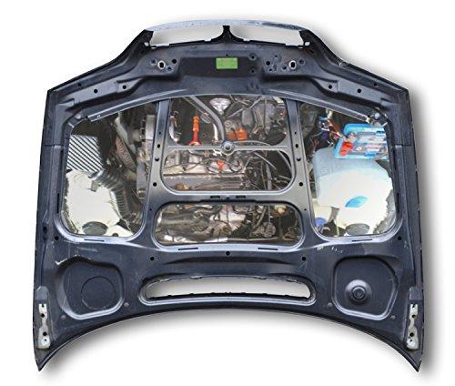 Motorkapspiegel van roestvrij staal.
