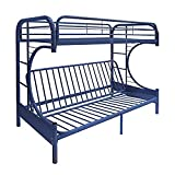 ACME Furniture 02091W-NV Eclipse Futon Bunk Bed, Twin/Full, Navy