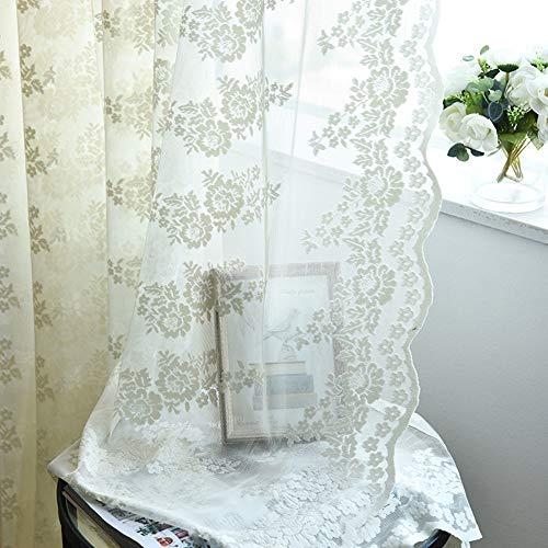 cortinas salon modernas 2 piezas visillos