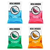 HEN OF THE WOODS All Natural Kettle Chips (Variety Pack 12 pack 2oz)   Snack better with Chef Crafted, Gluten Free, Grain Free, and Non-GMO Kettle Chips with Authentic Flavors and All Natural Ingredients