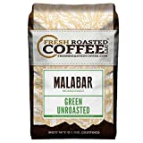 Fresh Roasted Coffee LLC, Green Unroasted Indian Monsooned Malabar Coffee Beans, 5 Pound Bag