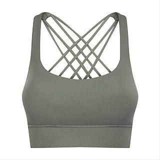 Shockproof Cross Straps Running Gym Sport Bras Top Women Widen Hem Push Up Workout Fitness Yoga Crop Tops Brassiere Comfor...