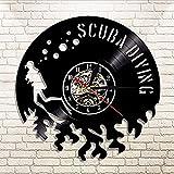 TXYANG Schallplatte Wanduhr 1 Stück Tauchen Led Vinyl Uhr Geschenk Für Taucher Unterwäsche...