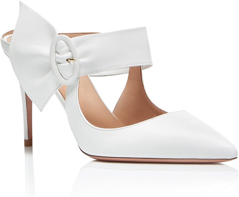 Bröllopsskor med vita spetsiga spetsiga spetsiga skor med högklackade skor (H -höjd 11 -13cm)  bekvämt