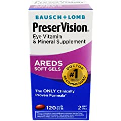 PRESERVISION AREDS VITAMINS: This eye vitamin and mineral supplement was tested and clinically proven in the 2001 Age Related Eye Disease study to reduce the risk of progression in those with moderate-to-advanced Age Related Macular Degeneration by 2...