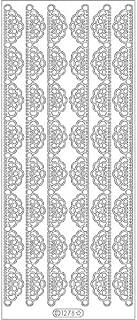 Elizabeth Craft Designs Lace Fan 2 Peel Off Stickers 4
