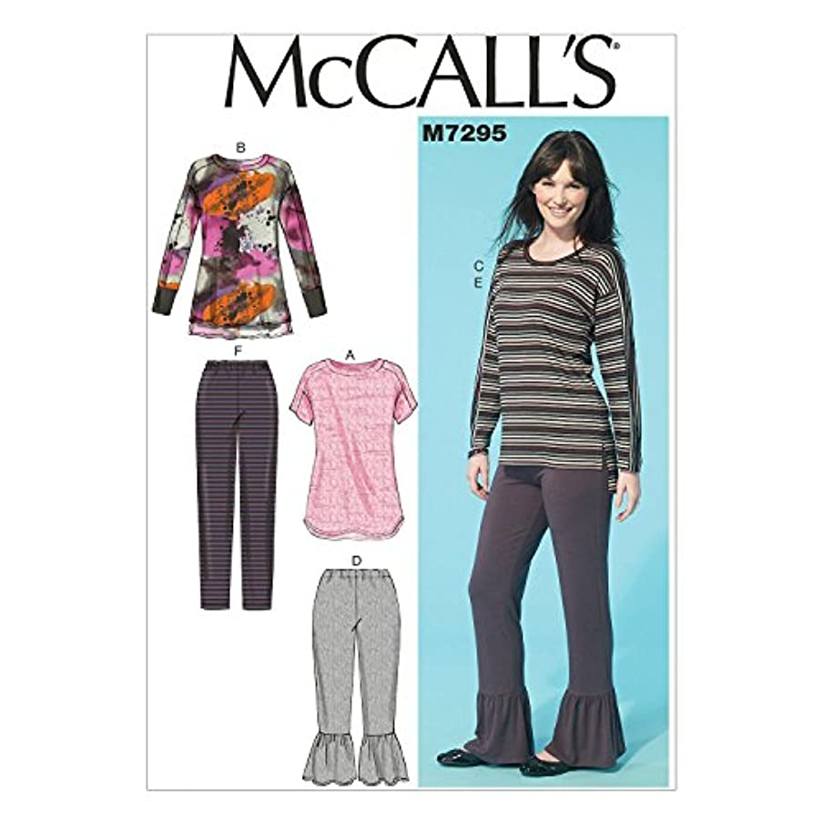 McCall's Patterns M7295 Misses' Tops & Pants, Y (X-Small-Small-Medium)