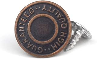 20 Pcs Replacement Jeans Buttons, LaZimnInc Metal Button Snap Buttons Replacement Kit with Word (0.67inch)