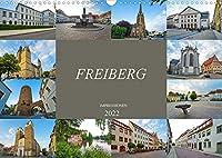 Freiberg Impressionen (Wandkalender 2022 DIN A3 quer): Zu Gast in der alten Bergbaustadt Freiberg (Monatskalender, 14 Seiten )