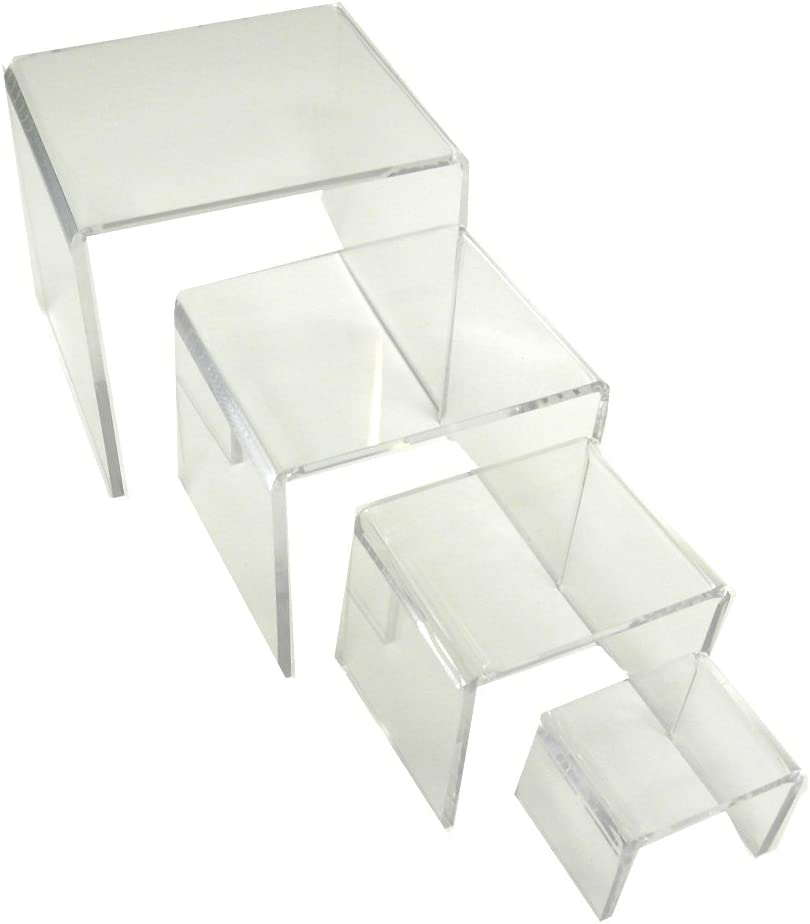 Mirart Clear Acrylic Display Risers-Set Four 3 2 latest of Charlotte Mall inch