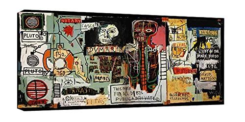 Notaire par Jean-Michel Basquiat Tableau Decoration Murale Tableaux Posters Et Arts Décoratifs Poster Impression Sur Toile Tableaux Affiche(65x130cm(26x51inch),Encadrée)