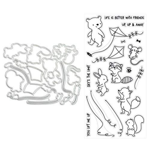 Guoqia☀ Drachen fliegende Metallstanzschablonen für DIY Scrapbooking Album Papier Karten Basteln Prägung
