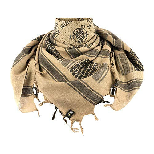 M-Tac Shemagh Viking Tactical Desert Head Neck Scarf Wrap Keffiyeh (Coyote - Black)