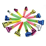 Toy Shimigy 100Pcs Noise Maker Blowout Jazzy Whistle Wedding Party Favour Bag Filler