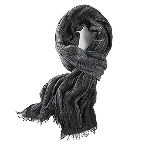100% Katoen Fold Design Dunne Winter Sjaal voor Heren 180 * 65cm