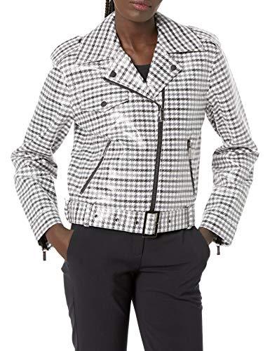 Armani Exchange Biker Jacket Chaqueta, High Rise Check, XL para Mujer