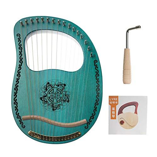 AKDSteel Saiteninstrument 16-saitige Harfe Lyre Harfe tragbares 16-saitiges Instrument Anfänger Musikinstrument Musikinstrument Zubehör Zubehör