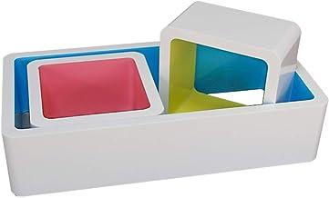 Drijvende Wand Rekken Shelf Creative Lounge Cube Display Stand Vaste pylonen Retro Design hout gebaseerde panelen, White (...