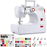 Sewing Machine for beginners with Instructional DVD, 5 Languages Manual, 53 PCS Accessories, 16 Build-in Stitches, MONDY FHSM-700 ( Any Speed by Foot Pedal)
