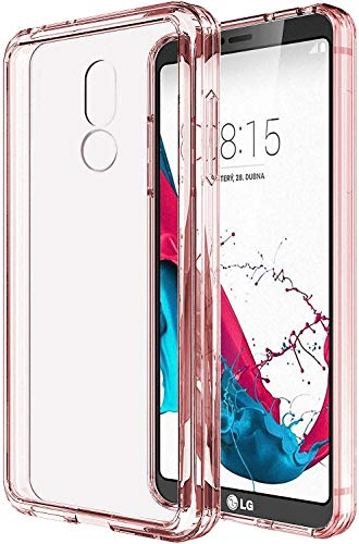 LG Stylo 5 Case,LG Stylo 5V Case,LG Stylo 5 Plus Case Clear, SKTGSLAMY Soft TPU Case Crystal Transparent Slim Anti Slip Case Back Protector Case Cover for LG Stylo 5 (Pink)