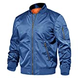 TACVASEN Men's Jackets-Zip Up Hiking Fishing Thick Outwear Fall Winter Outwear (Royal Blue L) by TACVASEN