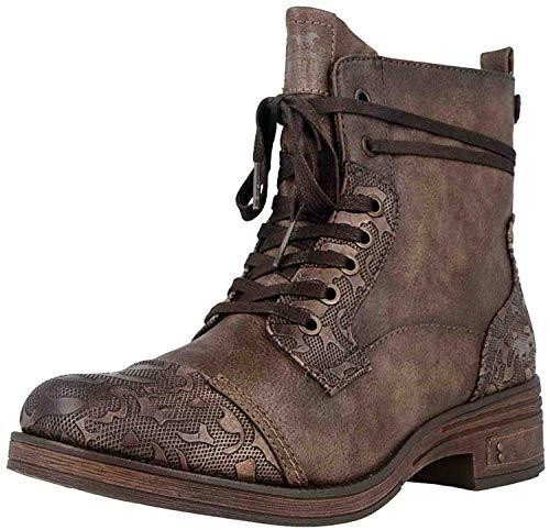 MUSTANG Damen Stiefelette Braun, Schuhgröße:EUR 44