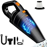 Accessories Handheld Vacuum Cleaner, Car Vacuum Cleaner High Power Cordless with Rechargeable Quick Charge, LED Light, Hand Vac Floor Care