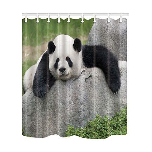 KTTO Duschvorhang Panda Muster 3D-Druck Hochwertiges Polyester Wasserdicht Multi-Size 240x200cm
