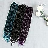 FASHION IDOL Senegalese Spring Twist Crochet Hair Bomb Twist Braids 14 Inch Natural Black Havana Mambo Twist Crochet Hair Extensions (1B)