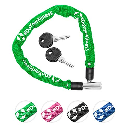 Fahrradschloss »Guardian« Sicherheitsschloss/Radschloss/Stahlgliederketten mit Schlüsseln zur Basisabsicherung - Inkl. 2 Schlüssel/ca. 60 cm lang, Durchmesser ca. 20 cm, Stärke ca. 3-4mm grün