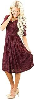 Best maroon dress lace sleeves Reviews