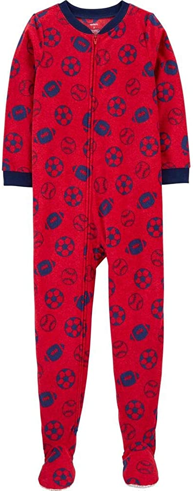Carters Big-boys 1 Pc Micro Fleece Footed Blanket Sleeper