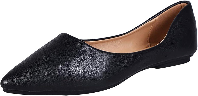 Meeshine Women's Comfortable Pointed Toe Ballerina Ballet Slip-on Dress Flat shoes