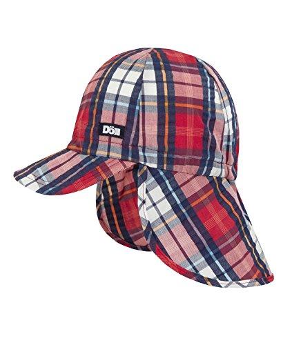 DÖLL® Jungen Baseballcap Schirm Mütze mit Nackenschutz, Größe:49, Präzise Farbe:Blau/Rot