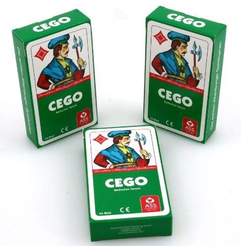 Ludomax Dreierpaket CEGO Ass Qualität Spielkarten im Set Block
